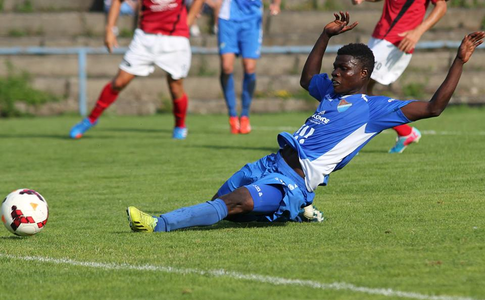 Francis Narh slotting in the opening goal for Ostrava