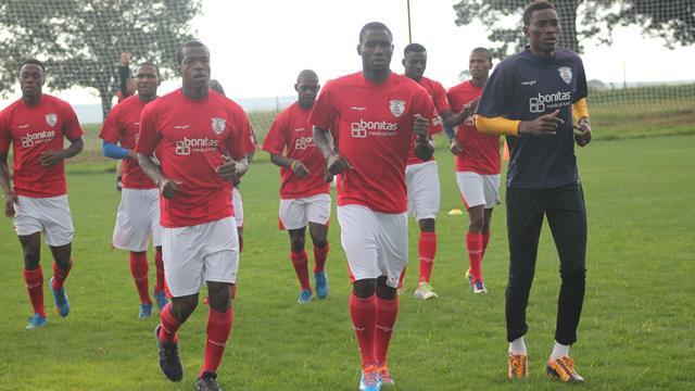 Abdul Basit Adams and Daniel Agyei (right).