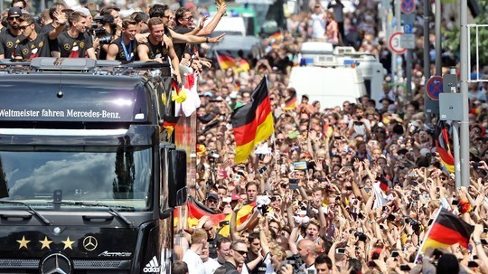 Germany players and fans