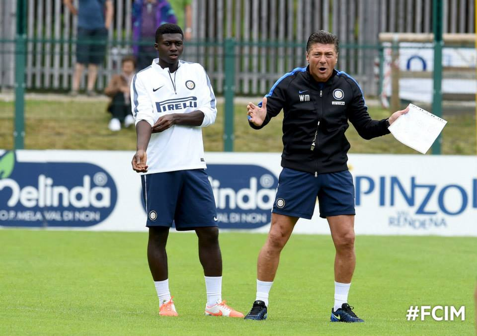 Ghana midfielder Duncan trains at Inter Milan