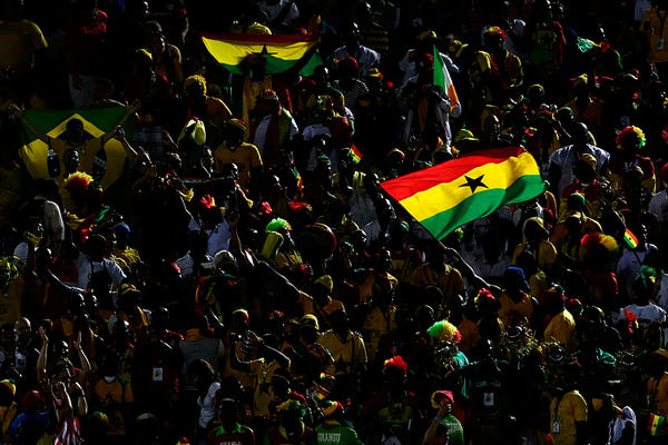 Ghanaians at the World Cup.