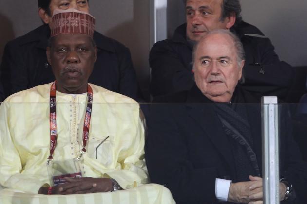 Issa Hayatou and Sepp Blatter