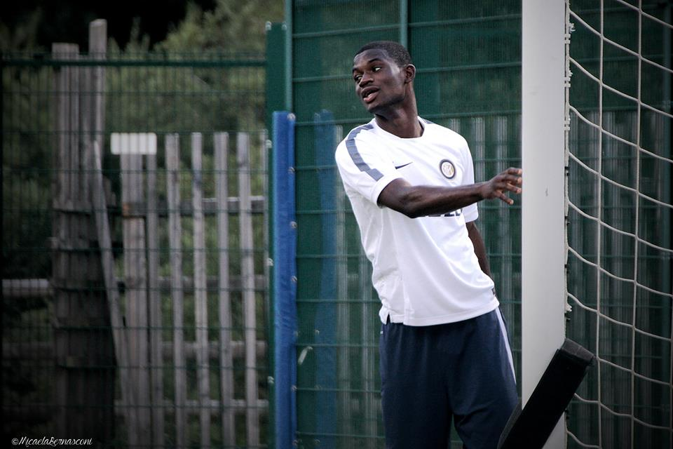 Inter Milan boy Donkor trains on his own