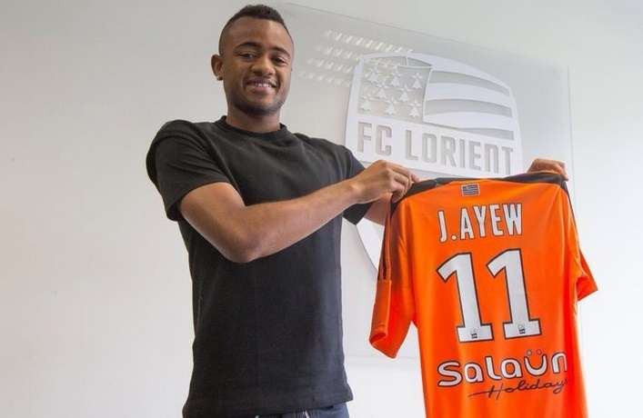 Jordan Ayew has joined Lorient from Marseille