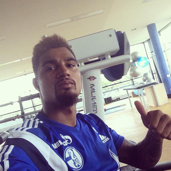 Kevin-Prince Boateng in Schalke 04 camp.