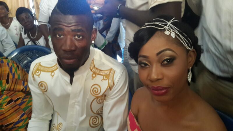 Afriyie Acquah and wife Amanda.