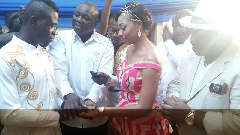 Afriyie Acquah marries his girlfriend Amanda in Accra.