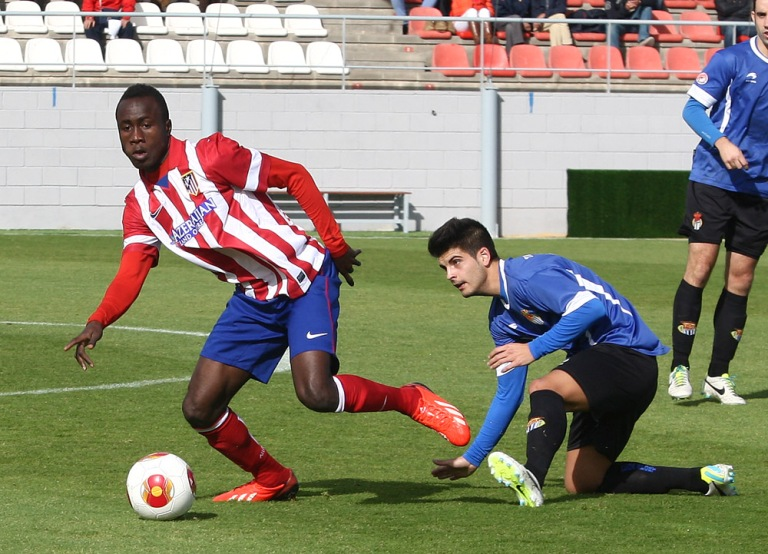 Isaac Nana Asare in action for his former side Atletico Madrid