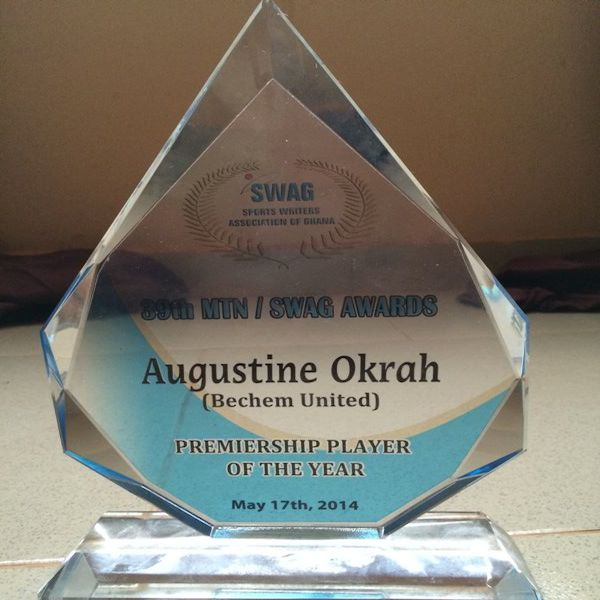 Augustine Okrah was named SWAG Premiership Player of the Year.