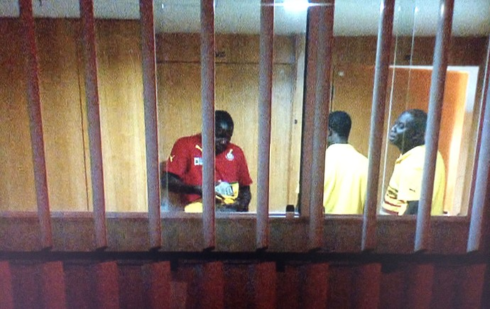 Black Stars players being paid cash in their hotel in Brasilia.