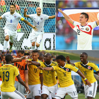 A collage from the 2014 FIFA World Cup.