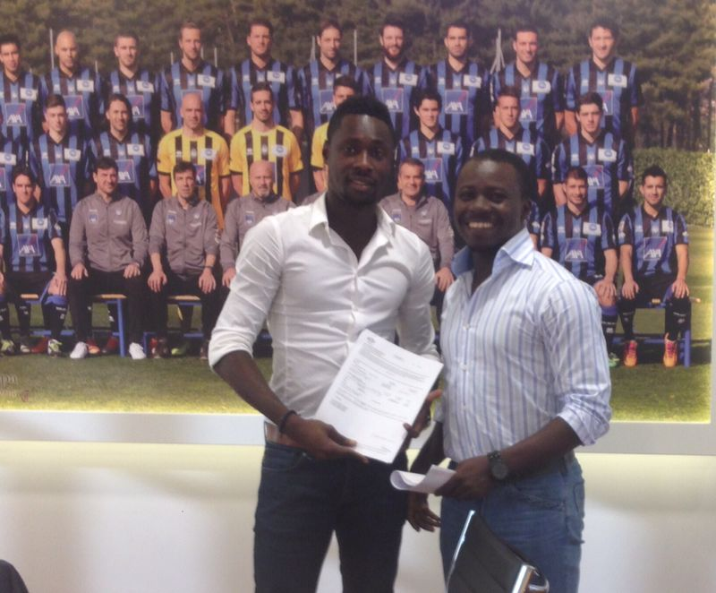 Richmond Boakye-Yiadom and his agent Oliver Arthur