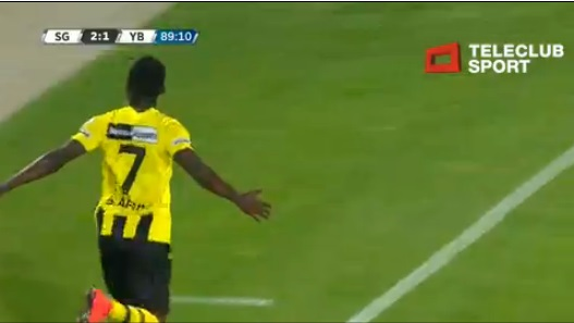 Samuel Afum scored a sensational finish for BSC Young Boys