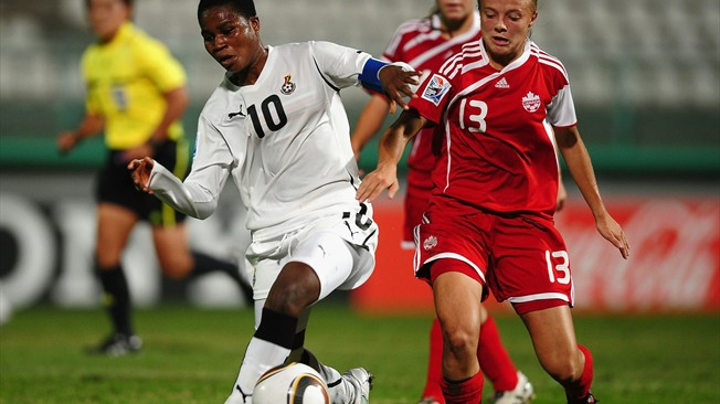 Beatrice Sesu in action at the FIFA U17 World Cup finals
