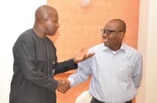 Sports Minister Mahama Ayariga with Ghana FA boss Kwesi Nyantakyi