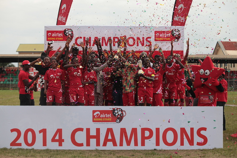 Winners of 2014 Airtel Rising Stars final in Sunyani.