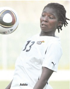 Nigeria-based playmaker of Rivers Angels Elizabeth Addo is among the twenty-five players invited by Ghana's senior women's team coach Yusif Basigi to camp - in preparation for the 2014 African Women's Championship in Namibia.