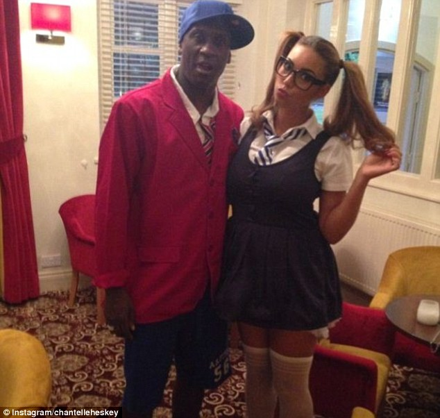 dd7de1bc16 Emile Heskey and his Ghanaian wife Chantelle Tagoe go back to school at a  fancy dress party