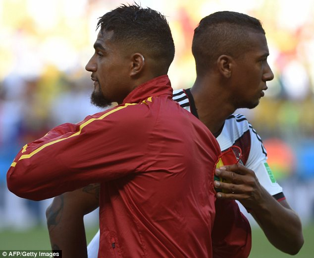 Kevin-Prince Boateng and brother Jerome