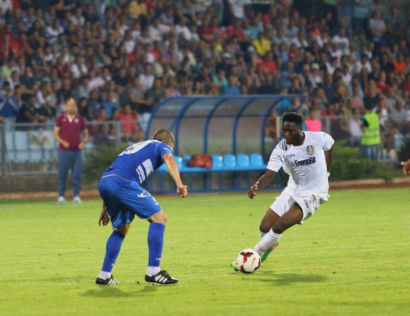 Sulley Muniru dazzling in their Europa League match at Jagodina.