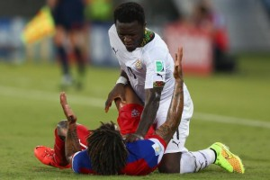 Sulley Muntari had disciplinary problems at the 2014 World Cup