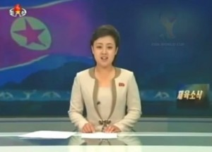 North Korea's controlled media are telling their country that the national team have reached the World Cup final in Brazil to face Portugal.