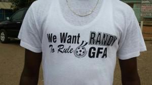 Randy Abbey t-shirts seeking to fight Kwesi Nyantakyi have emerged