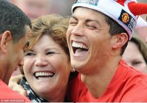 Cristiano Ronaldo and his mum