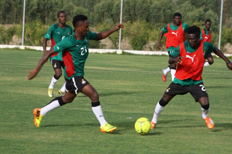 Asiedu Attobrah, left training with Ghana's CHAN squad, is confident of the Black Satellites success