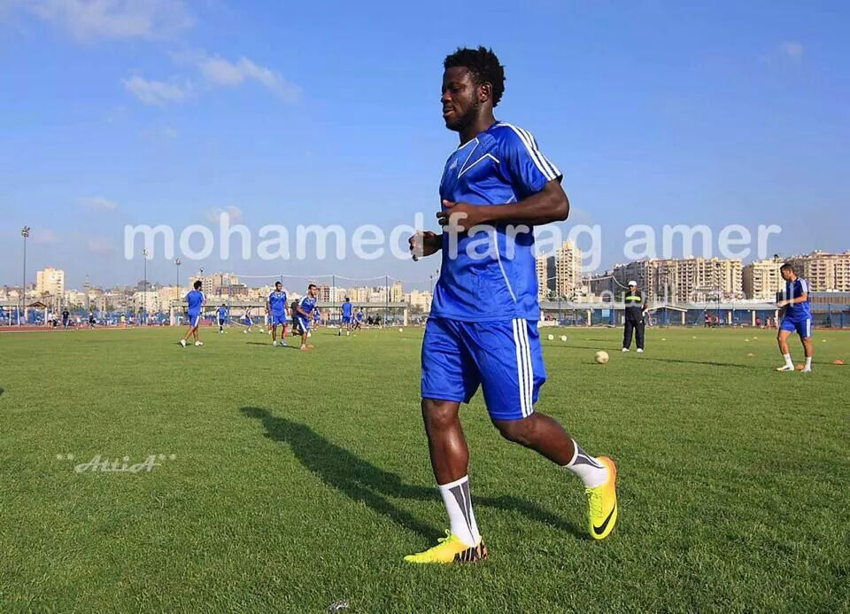 Abdul Aziz Yusif in training at FC Smouha.