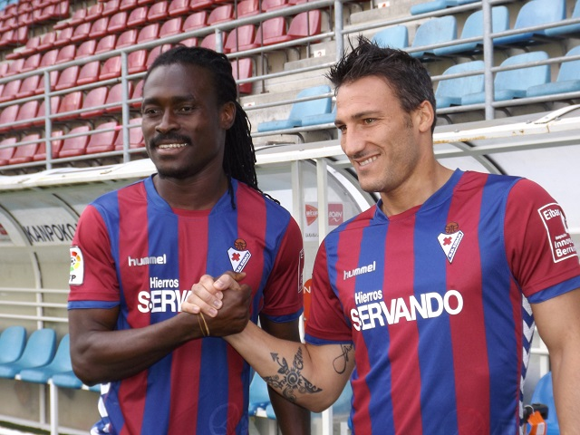 Derek Boateng and new coach Federico Piovaccari