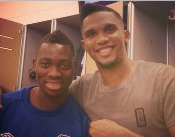 Christian Atsu will be working with Samuel Eto'o at Everton
