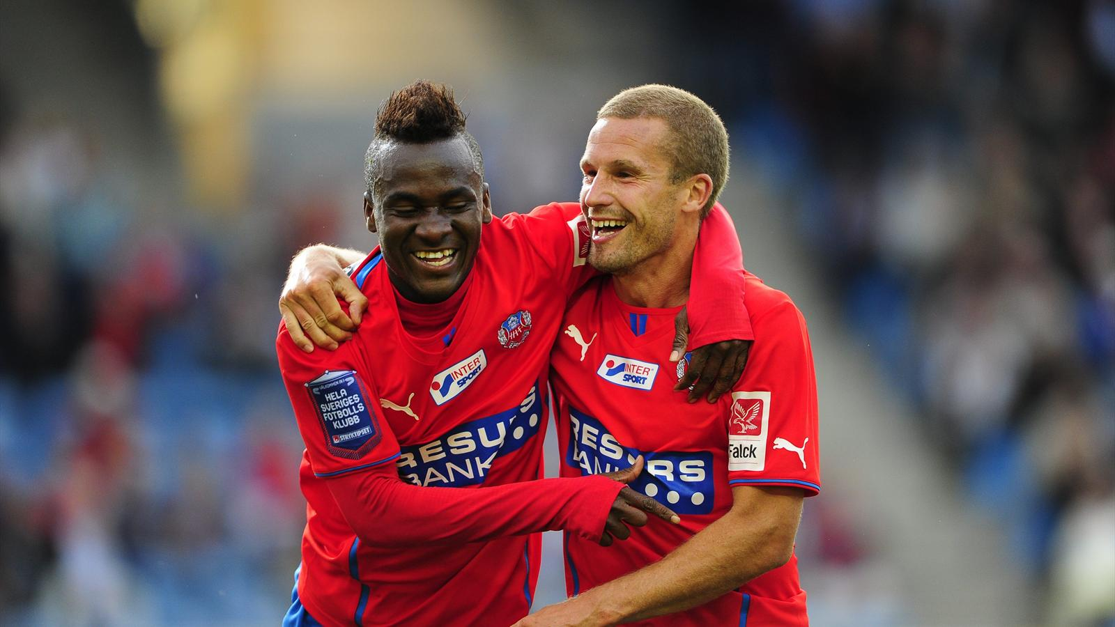David 'King' Accam scored for Helsingborg