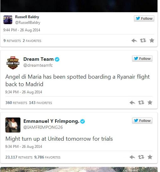 Emmanuel Frimpong mocked United