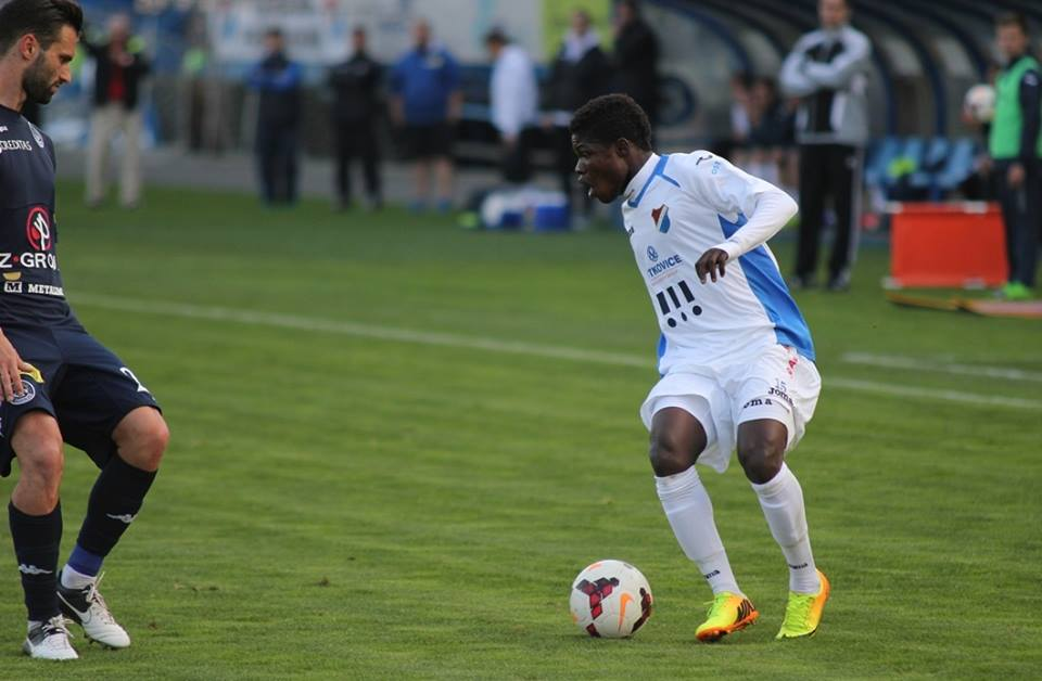Francis Narh returned to action for Banik Ostrava