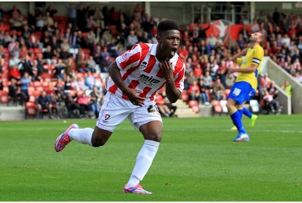 Ghana boy Koby Arthur scored for Cheltenham Town on Saturday