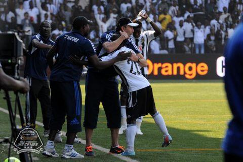 Ghana winger Solomon Asante in goal celebration