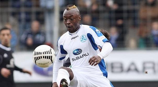 Ghanaian Randy Bonsu scores against Dortmund