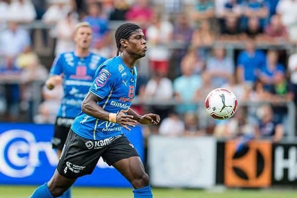 Ghanaian defender Joseph Baffo scored for Halmstad BK