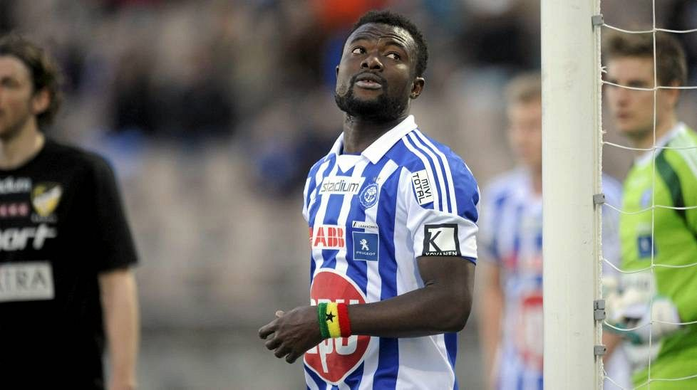Gideon Baah came on in the second half