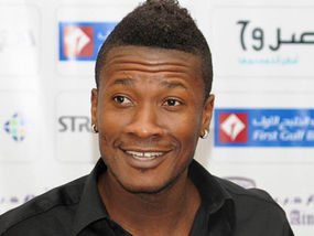 Ghana striker Asamoah Gyan