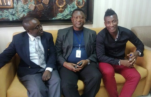 Asamoah Gyan arrived in Lilongwe on Wednesday evening
