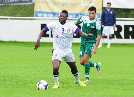 Asamoah Gyan scored to win the match for Al Ain against Raja
