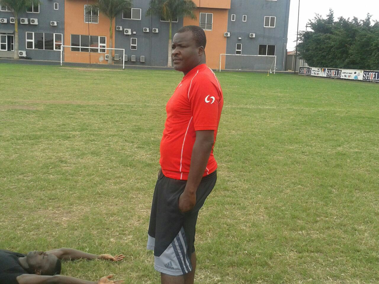James Nanor training with Inter Allies at the Lizzy Sports Complex.