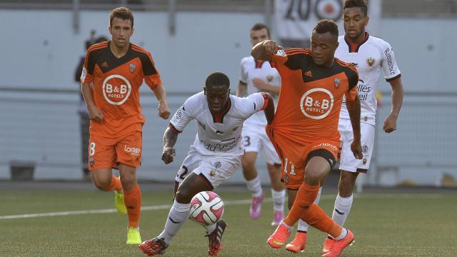 Jordan Ayew scored for Lorient