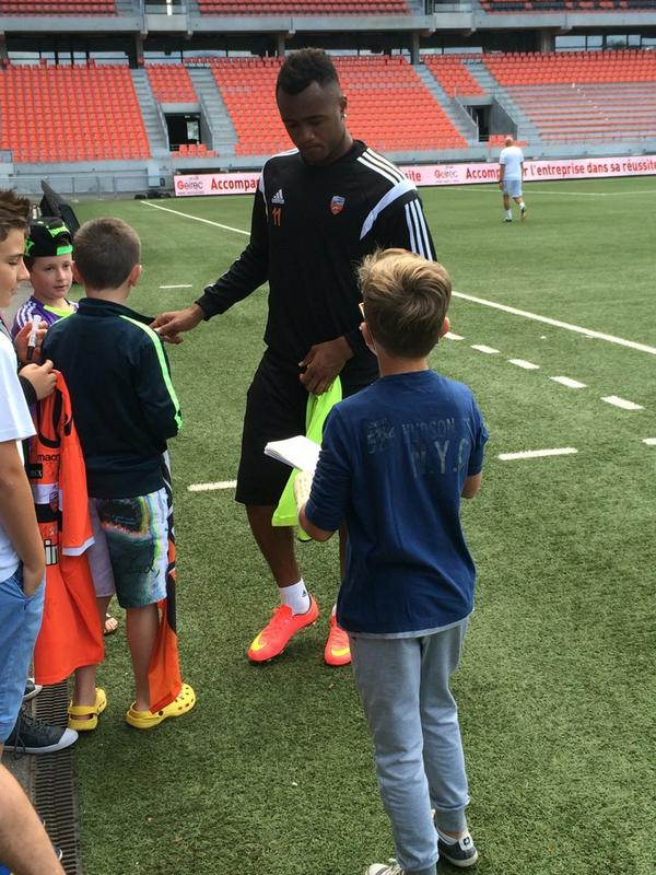 Jordan Ayew and kids