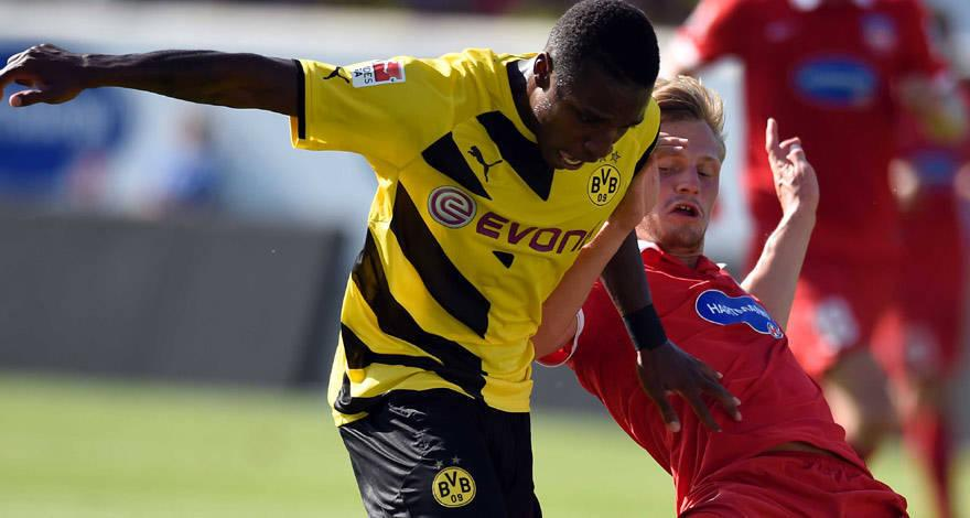 Joseph-Claude Gyau scored twice for Borussia Dortmund
