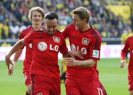 Karim Bellarabi celebrates