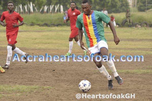 Kenneth Okoro scored again for Hearts in pre-season