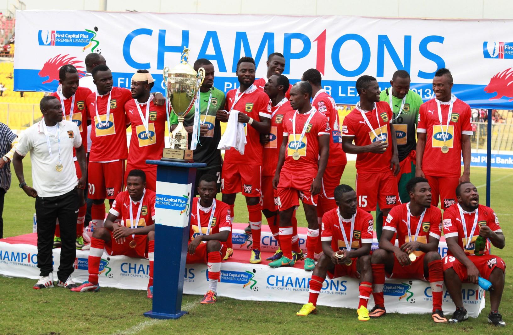 Asante Kotoko crowned champions.